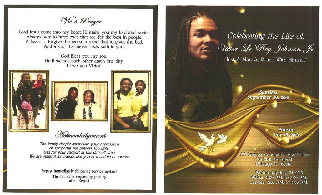 Victor LeRoy Johnson Jr Obituary