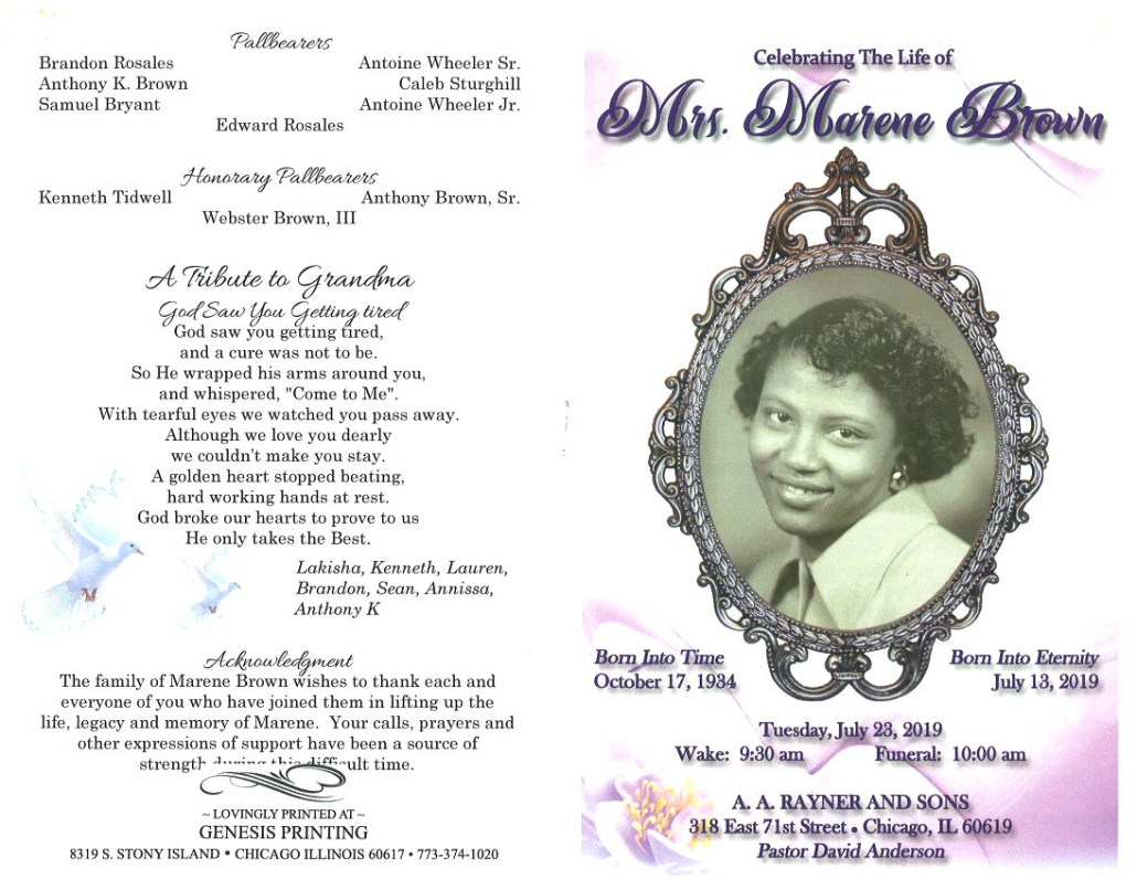 Marene Brown Obituary