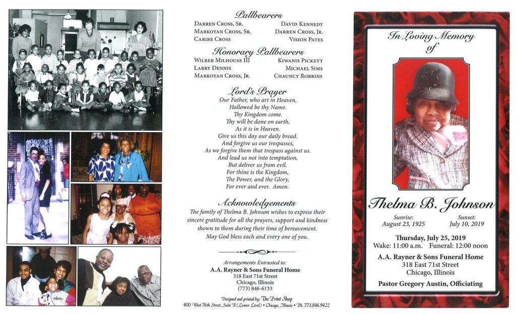 Thelma B Johnson Obituary