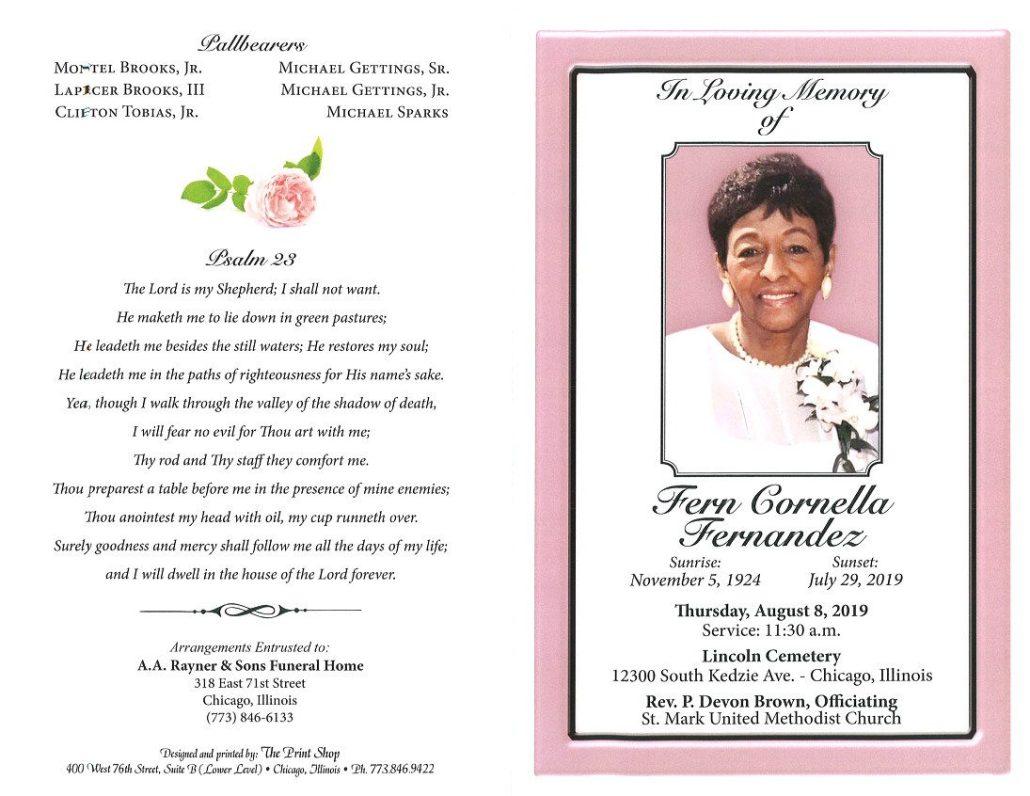 Fern Cornella Fernandez Obituary
