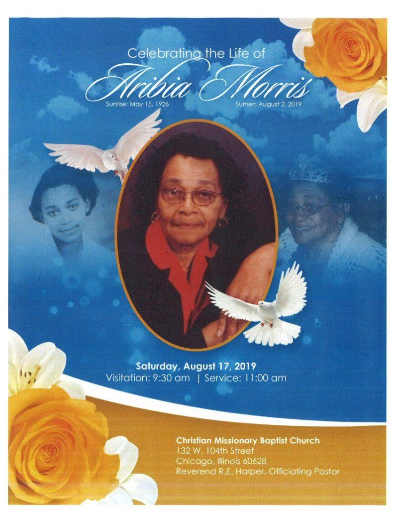 Aribia Morris Obituary