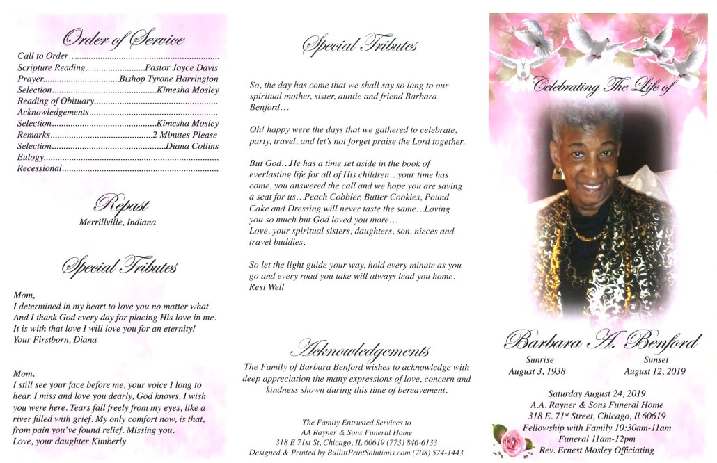 Barbara Benford Obituary