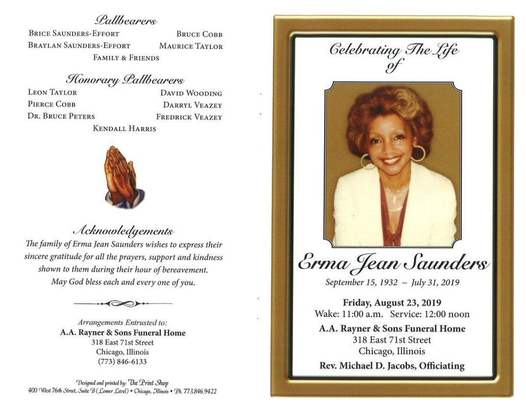 Erma Jean Saunders Obituary