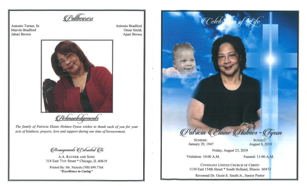 Patricia Elaine Holmes-Tyson Obituary