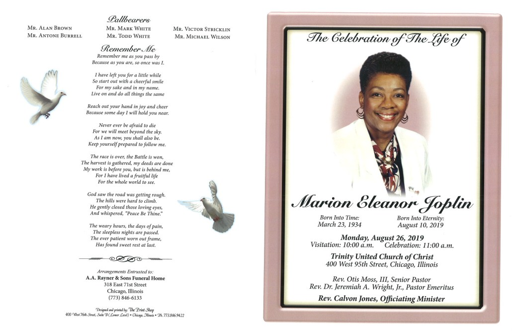 Marion Eleanor Joplin Obituary