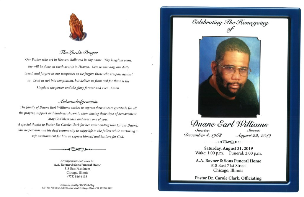 Duane E Williams Obituary