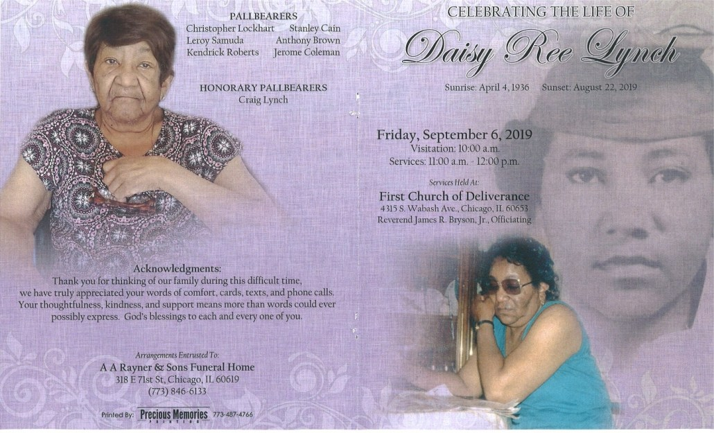 Daisy R Lynch Obituary