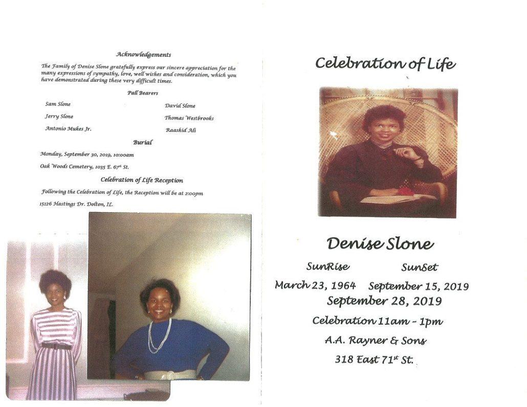 Denise Slone Obituary
