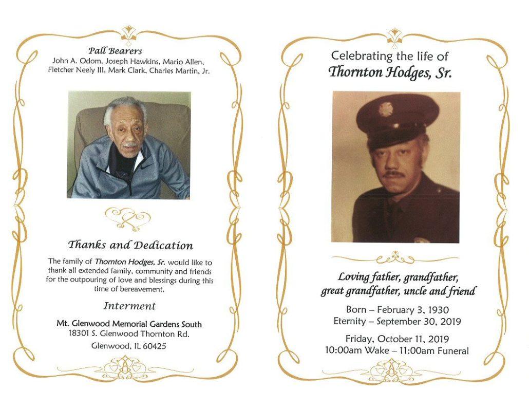 Thornton Hodges Sr Obituary