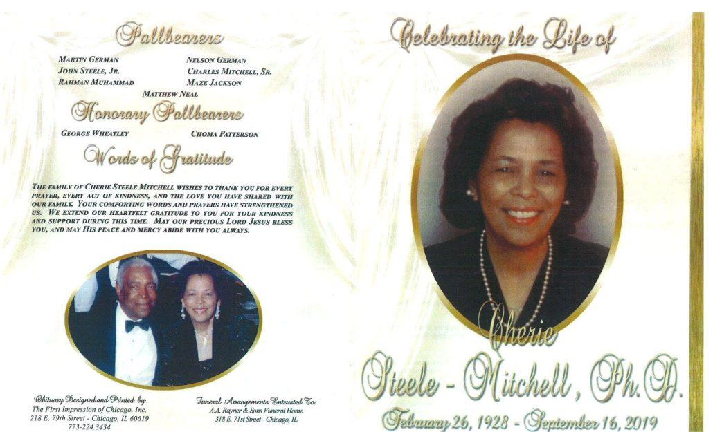 Cherie Steele Mitchell Obituary
