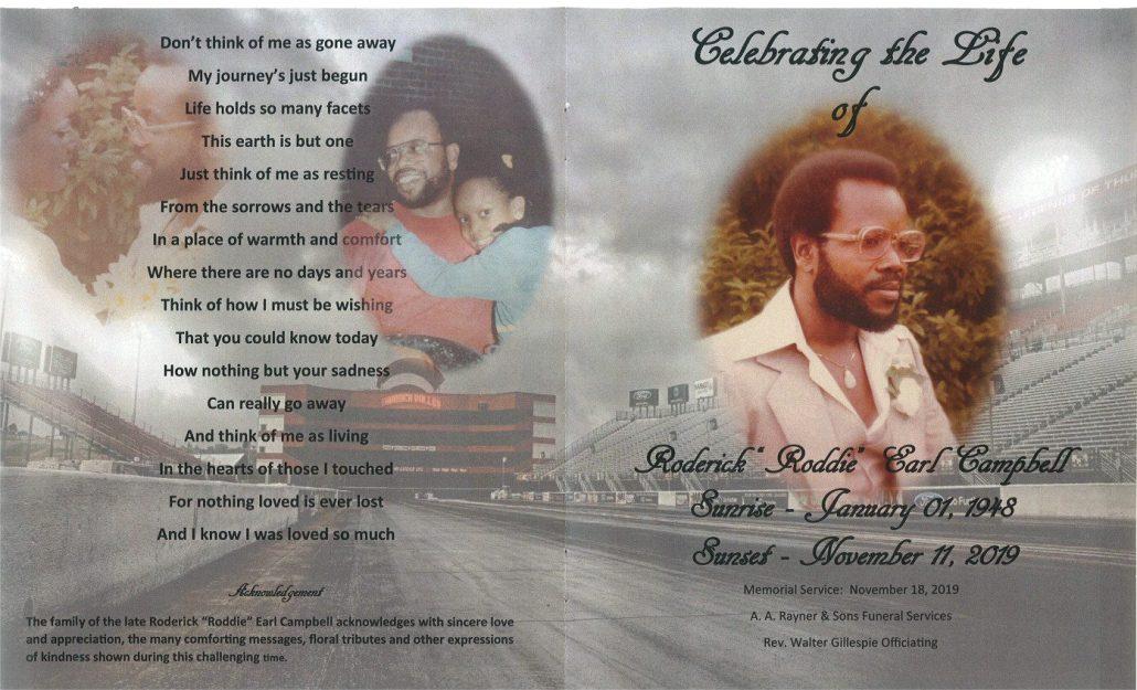 Roderick E Campbell Obituary
