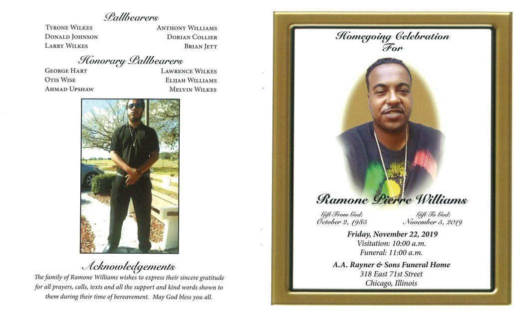 Ramone Pierre Williams Obituary