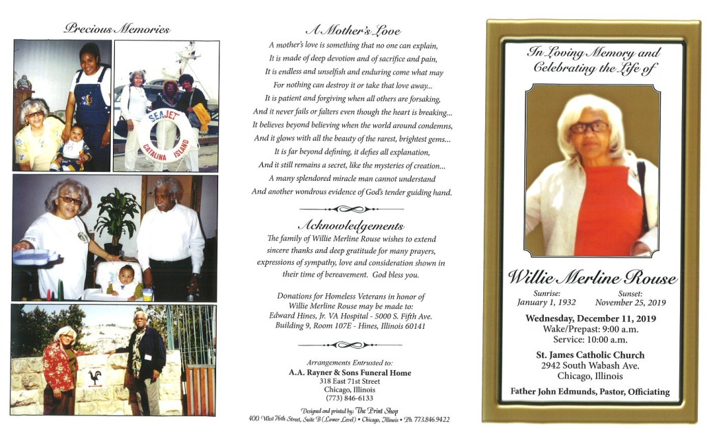 Willie M Rouse Obituary