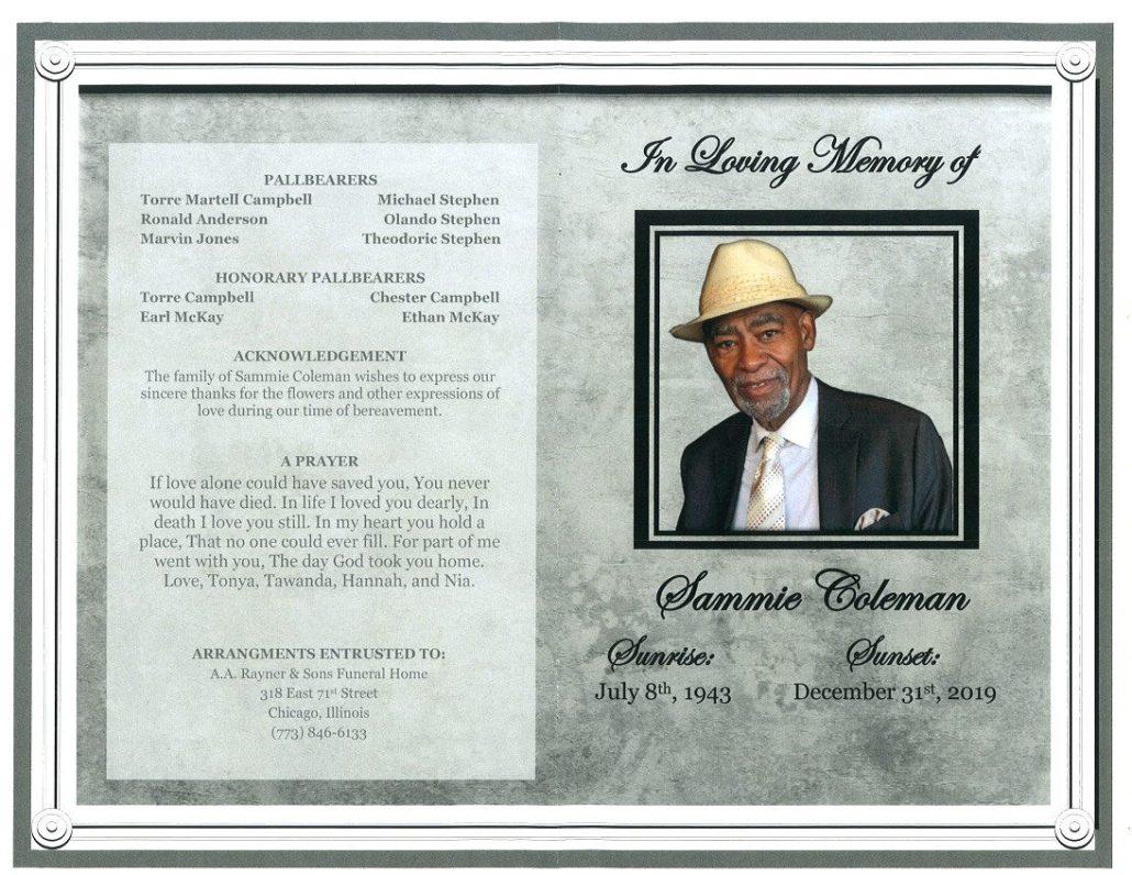 Sammie Coleman Obituary