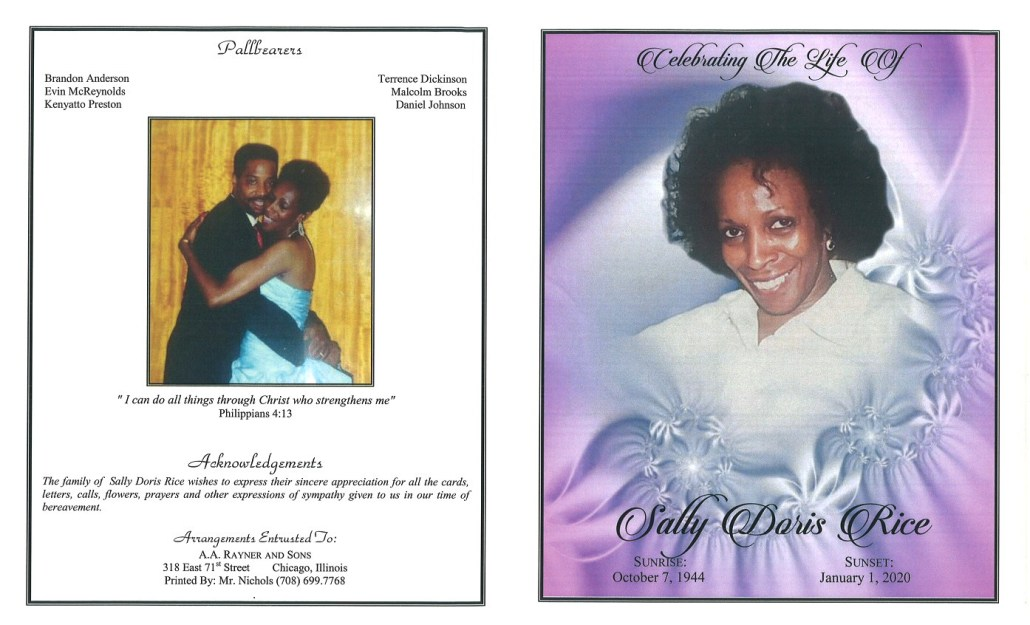 Sally D Rice Obituary