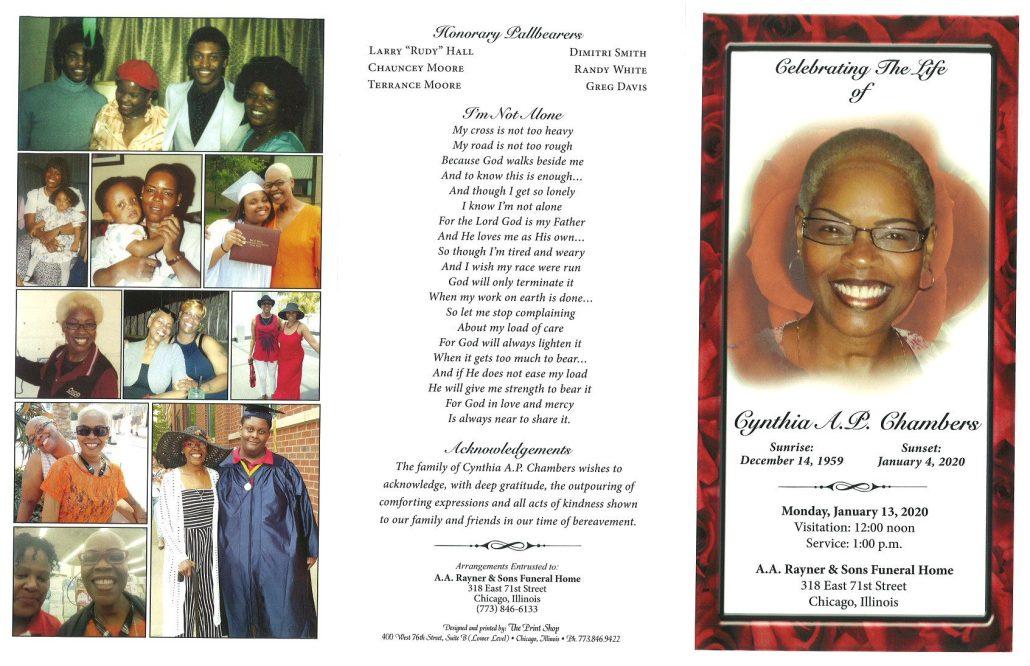 Cynthia AP Chambers Obituary