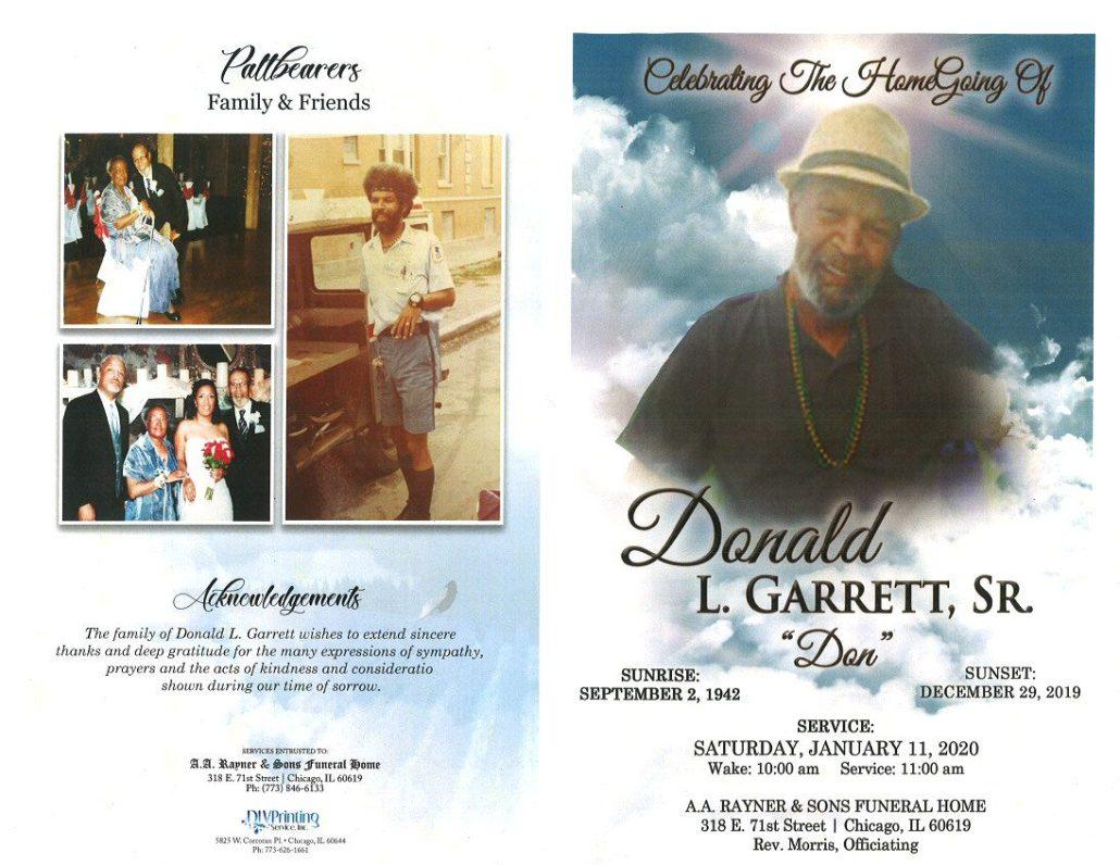 Donald L Garrett Sr Obituary