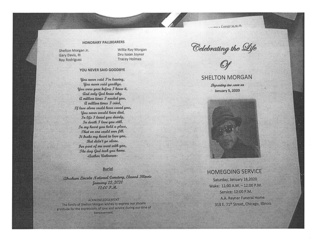 Shelton Morgan Obituary