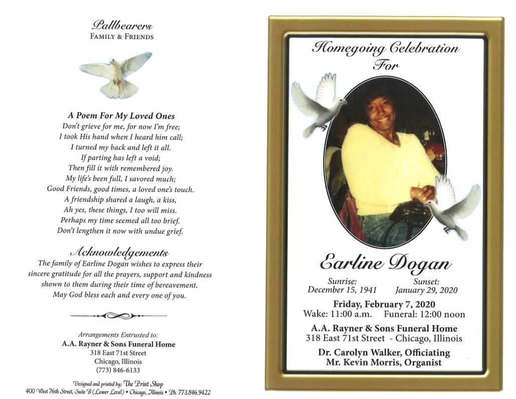 Earline Dogan Obituary