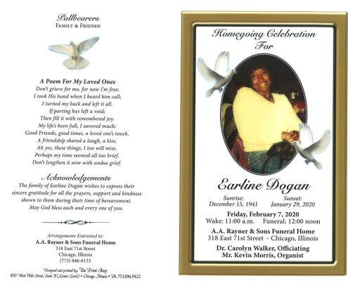 Earline Dogan Obituary