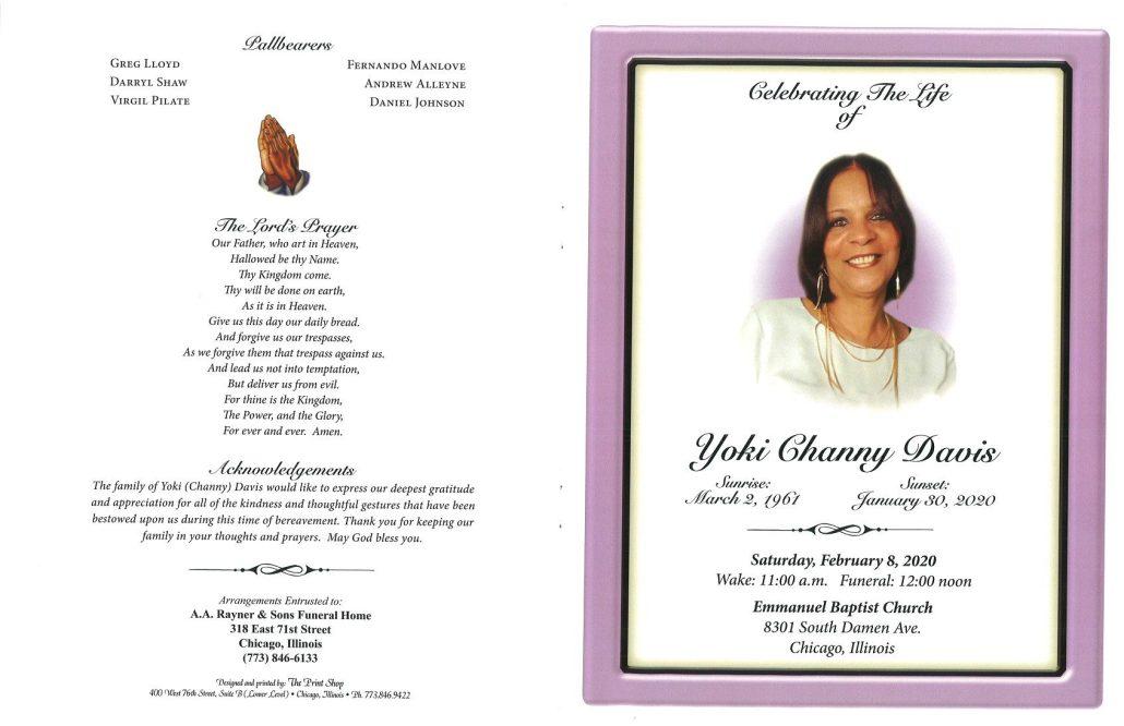 Yoki C Davis Obituary