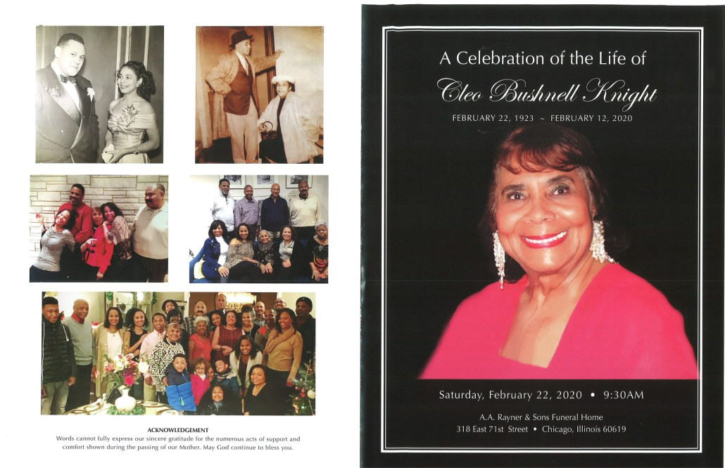 Cleo B Knight Obituary