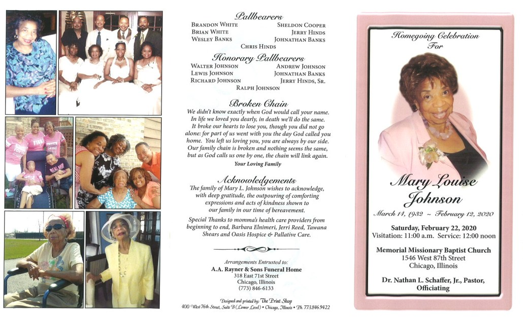 Mary Louise Johnson Obituary
