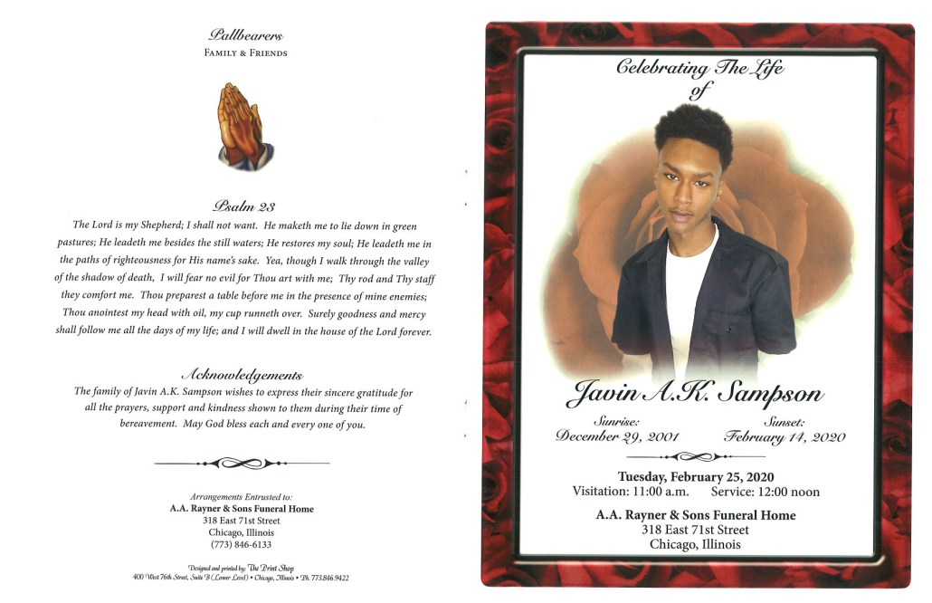 Javin Sampson Obituary