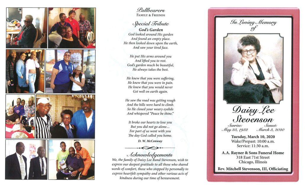 Daisy Lee Stevenson Obituary