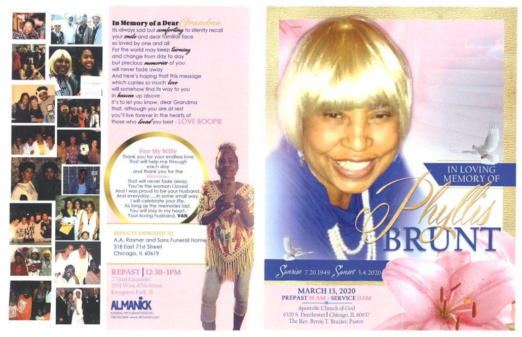 Phyllis Brunt Obituary