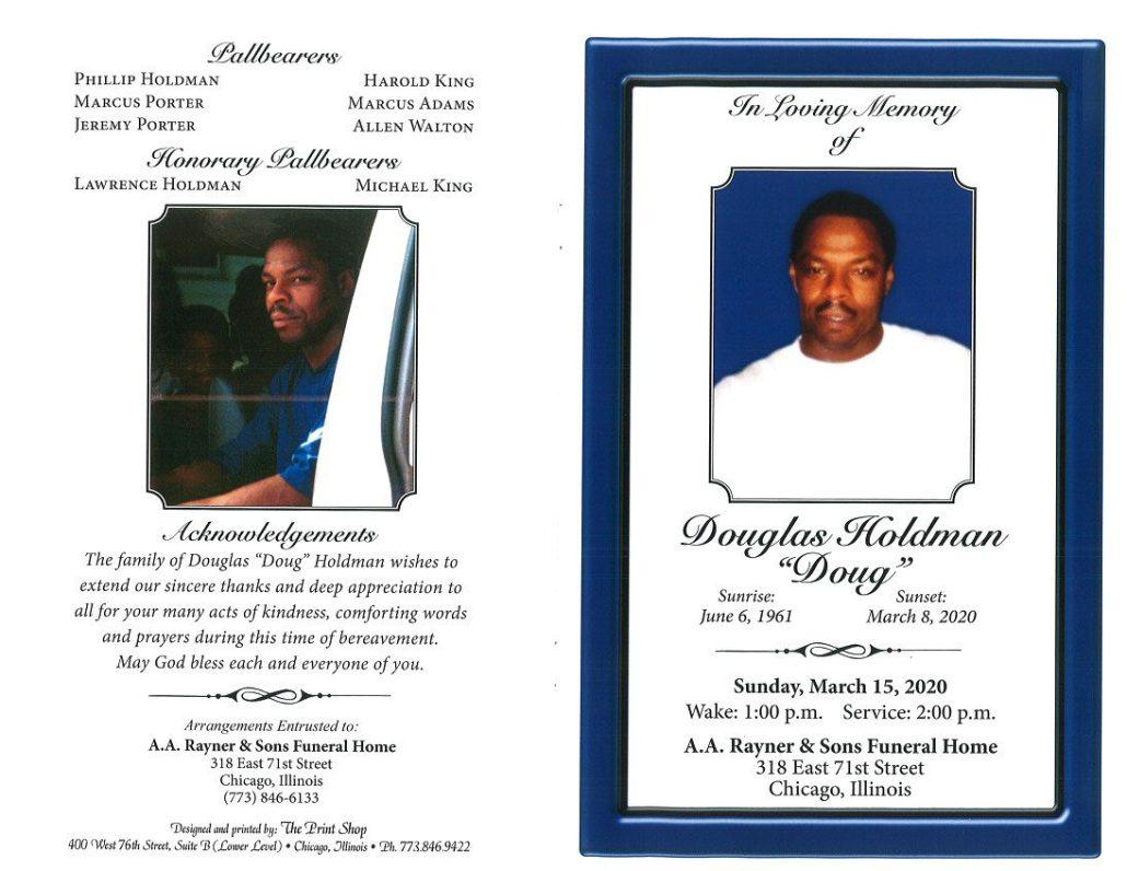 Douglas Holdman Obituary