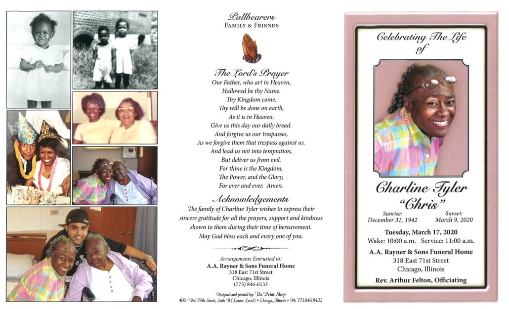 Charline Tyler Obituary