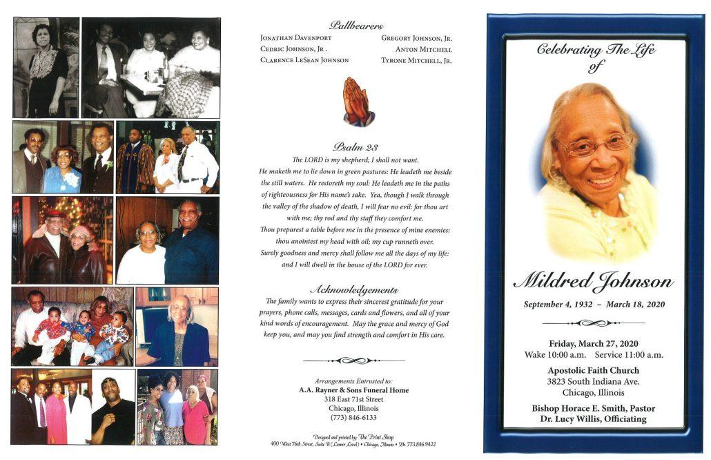 Mildred Johnson Obituary