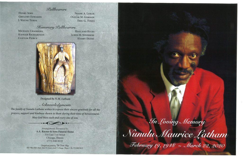 Nunulu M Latham Obituary