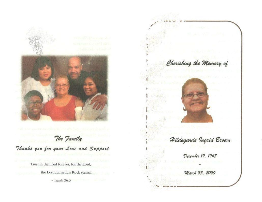 Hildegarde Brown Obituary