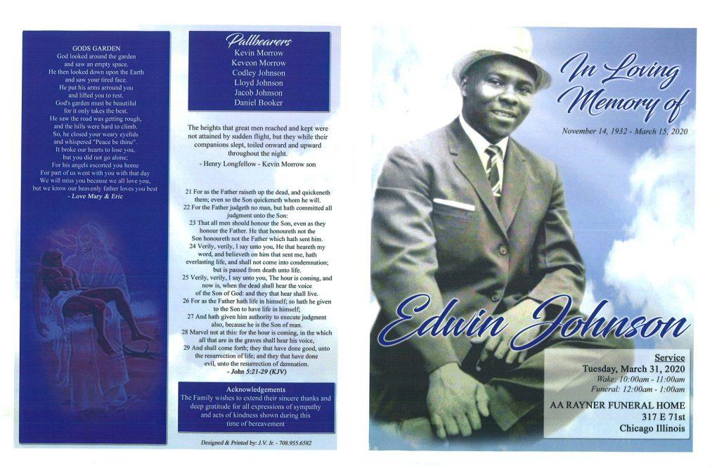 Edwin Johnson Obituary