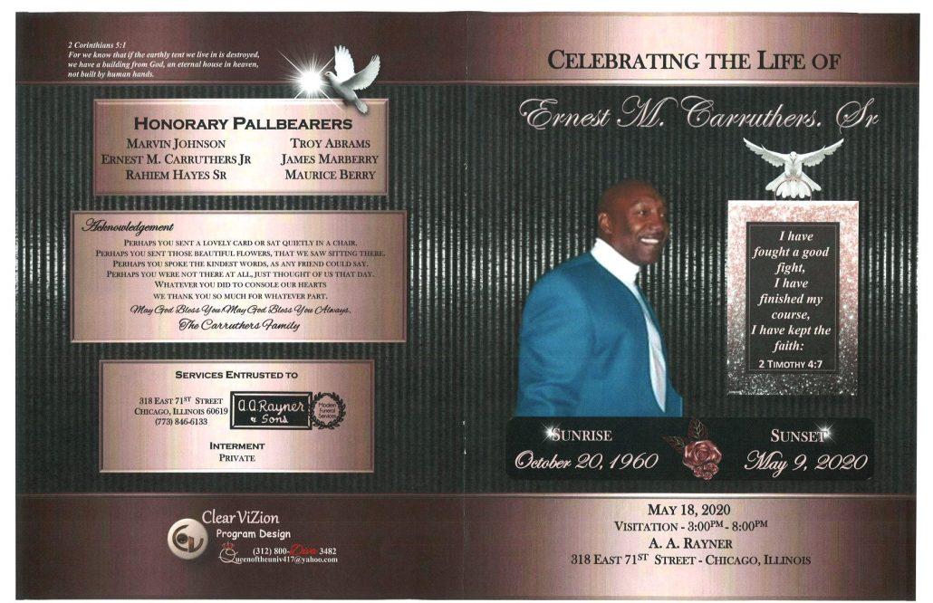 Ernest M Carruthers Sr Obituary