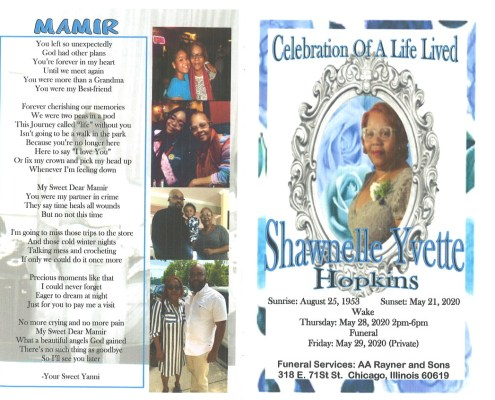 Shawnelle Yvette Hopkins Obituary