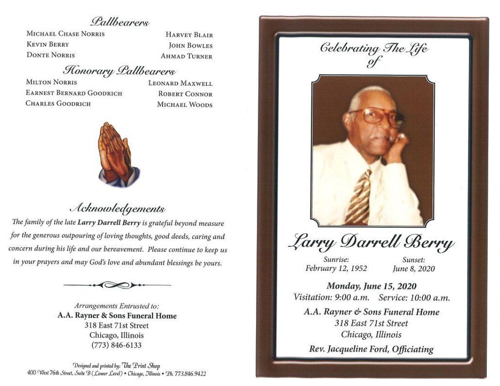 Larry D Berry Obituary