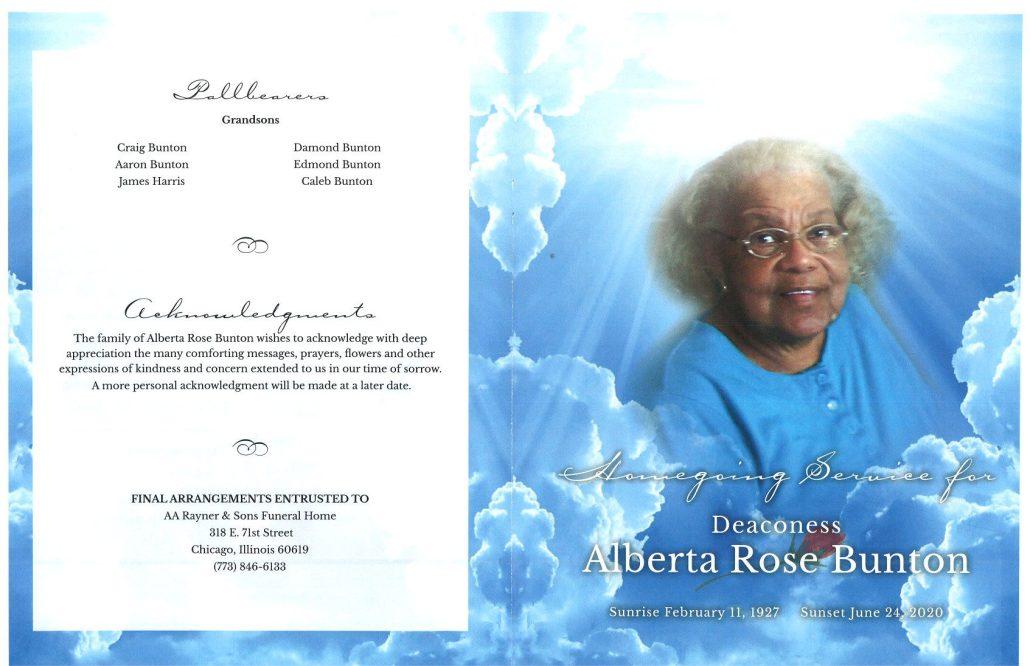 Alberta Rose Bunton Obituary
