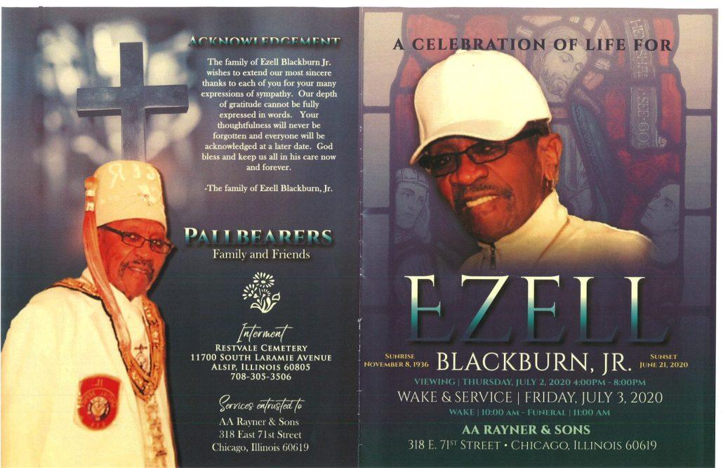 Ezell Blackburn Jr Obituary