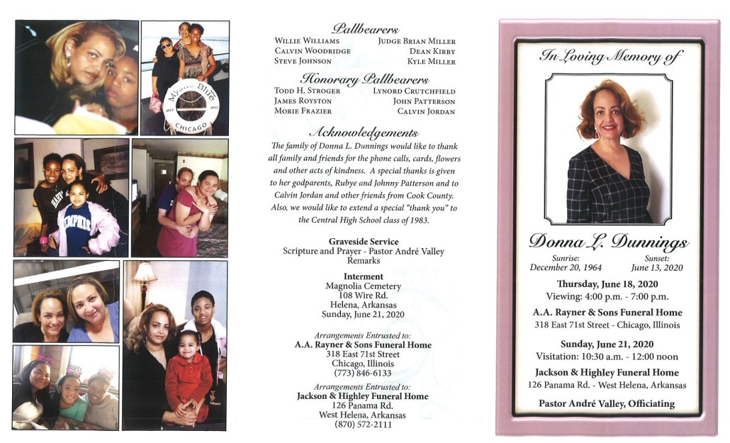 Donna L Dunnings Obituary