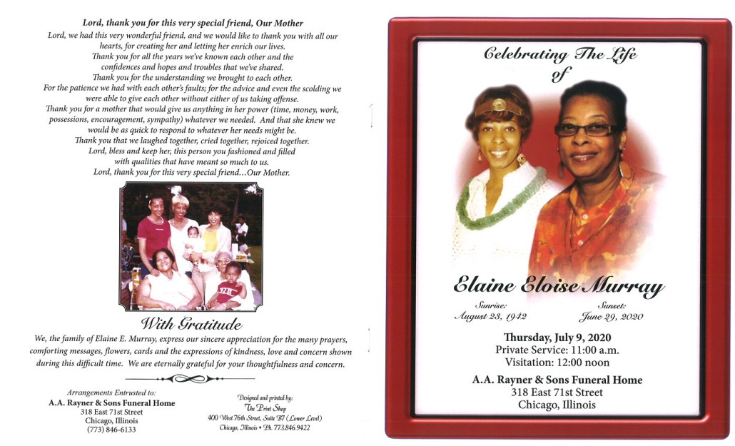 Elaine E Murray Obituary