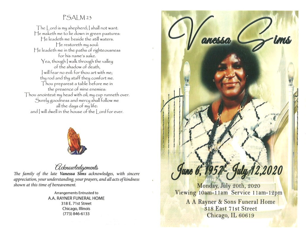 Vanessa Sims Obituary