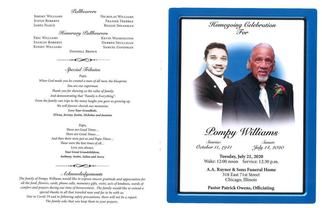 Pompy Williams Obituary