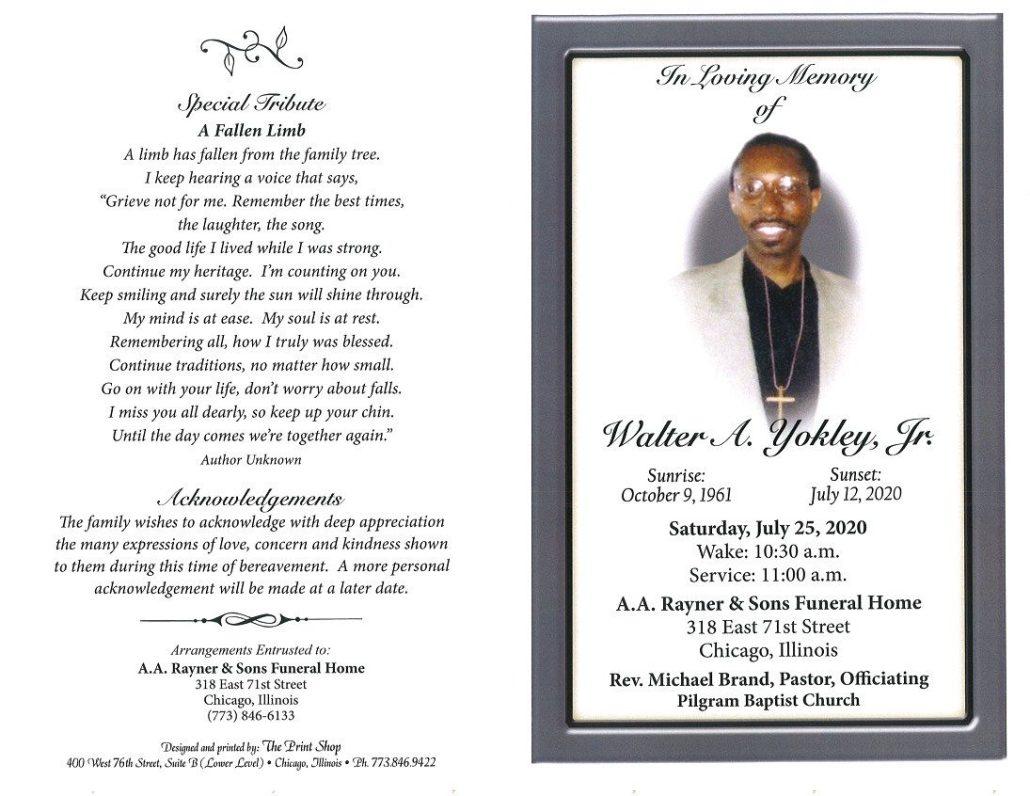 Walter A Yokley Jr Obituary