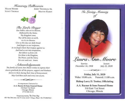 Laura Ann Moore Obituary