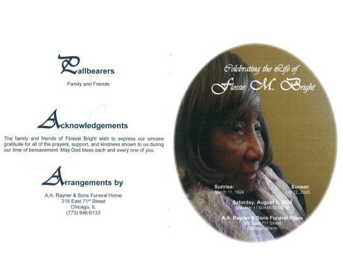 Flossie M Bright Obituary