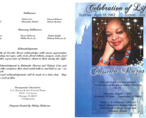 Cassida Razor Obituary
