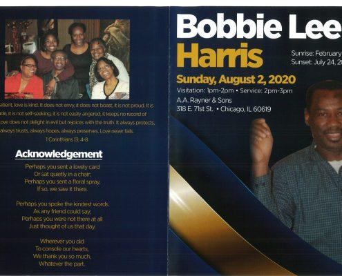 Bobbie Lee Harris Obituary